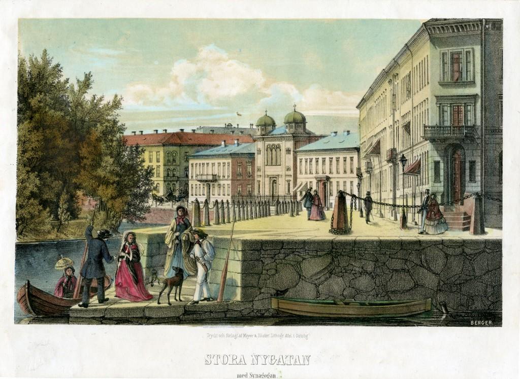 Stora Nygatan med Synagogen, Gothenburg