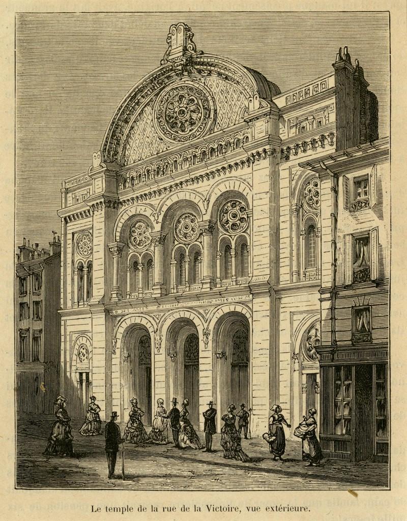 Le temple de la rue de la Victoire, vue extérieure