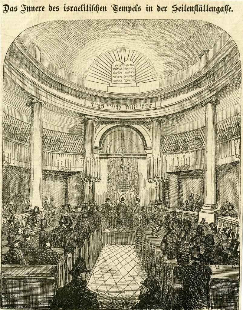 Interiori,  israelitischen Tempels in der Seitenstättengasse