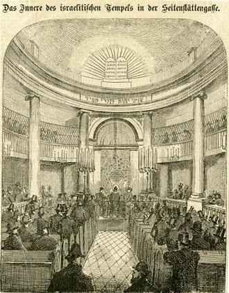 Interior, Stadttempel, located at Seitenstettengasse , Vienna