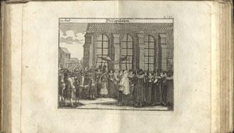 Wedding ceremony print from the book Jüdisches Ceremoniel