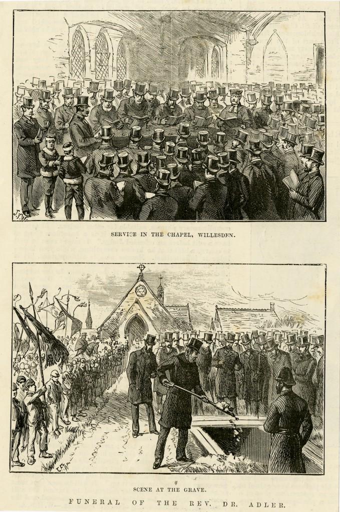 Funeral of the Rev. Dr. Adler