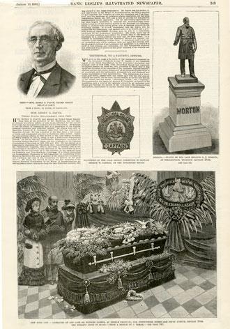 Obsequies of the late Dr. Edward Lasker, at Temple Emanu-El