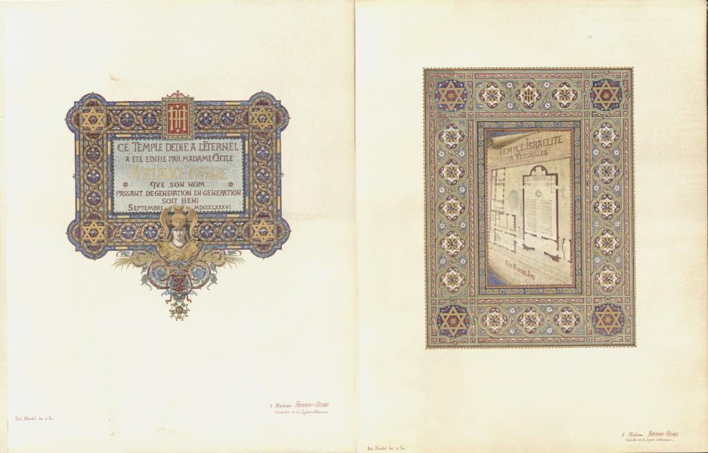 Versailles dedication book inner spread